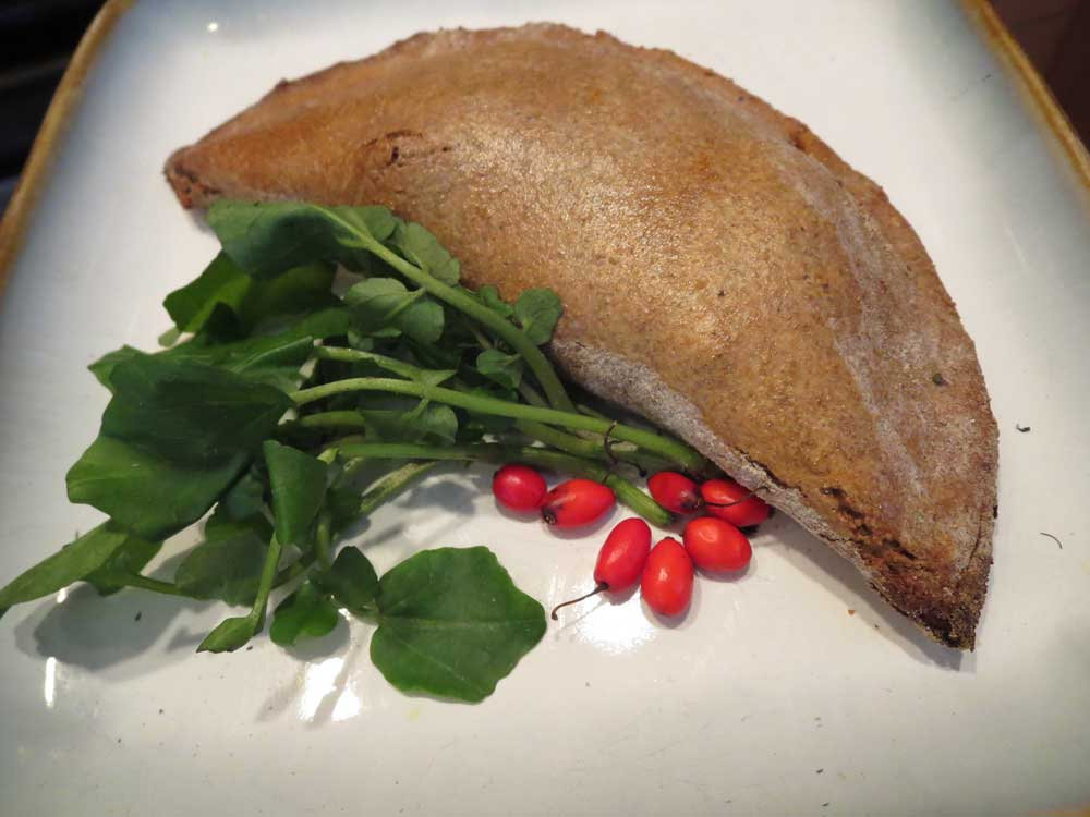 Turnover with watercress