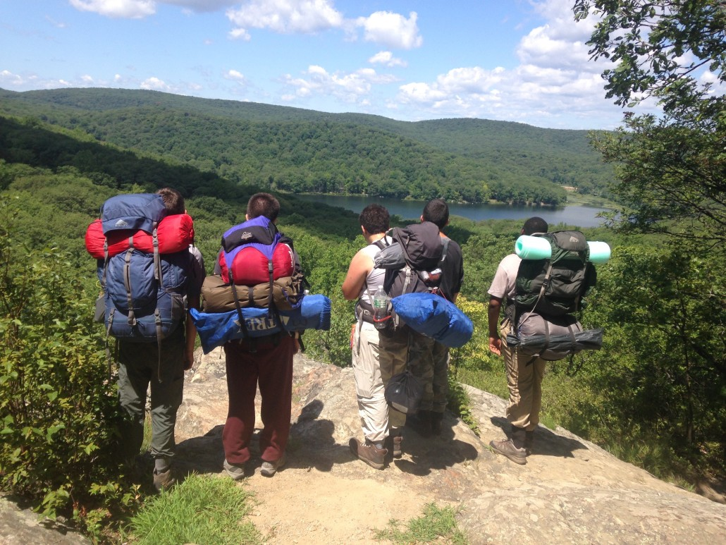 On top of the world - hiking in Harriman Park last summer