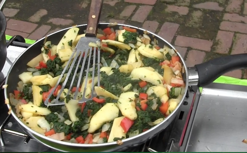 sauteed nettles with apples