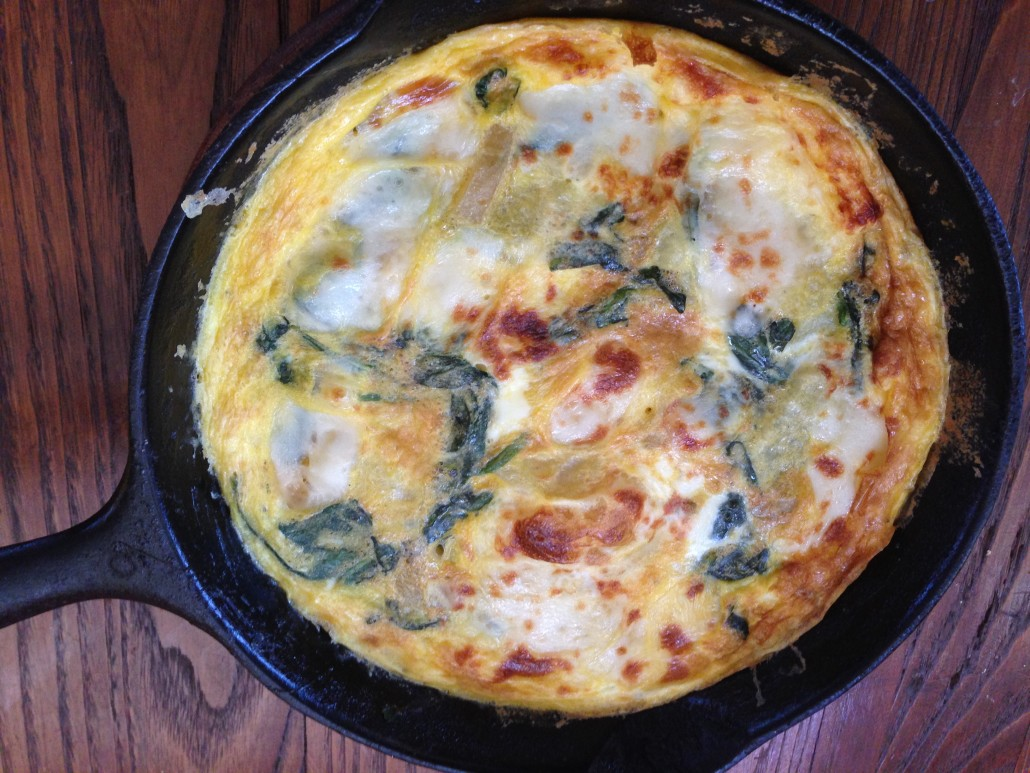 sorrel and potato frittata