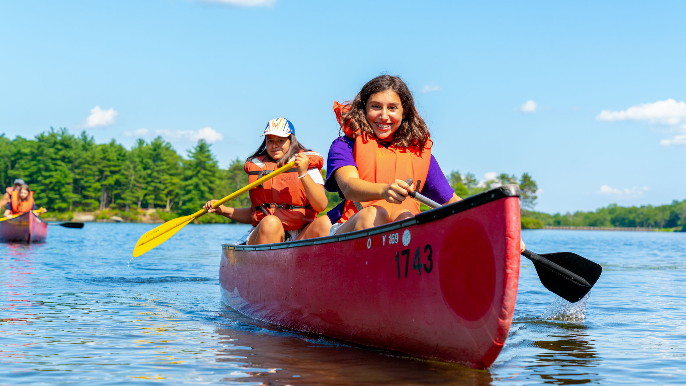 Campers canoeing