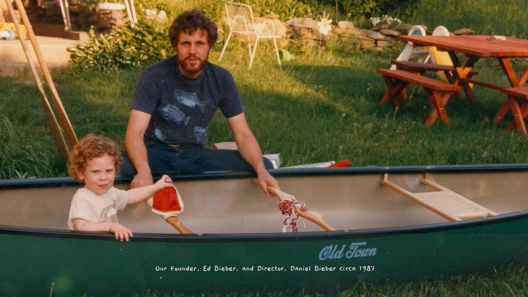 Our Founder, Ed Bieber, and Director, Daniel Bieber circa 1987